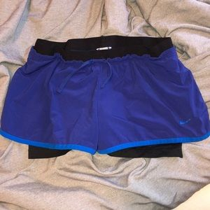 Medium Nike shorts with built in spandex